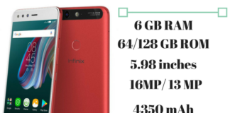 infinix zero 5 specs, feature & price