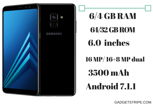 samsung galaxy a8+ specs & features