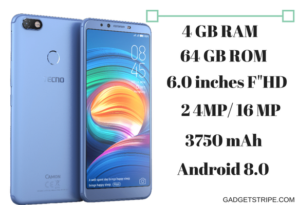 Tecno Camon X Pro Specifications, Features & Price