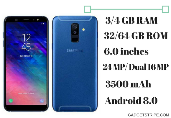 Samsung Galaxy A6 plus (2018) Specifications & Price - GadgetStripe