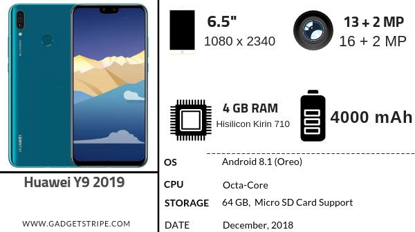 Huawei Y9 2019 Full Specifications & Price in Nigeria - GadgetStripe