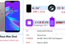 Asus Zenfone max shot specifications