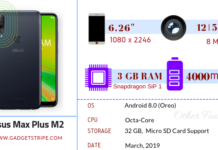 Asus zenfone max plus m2 specifications
