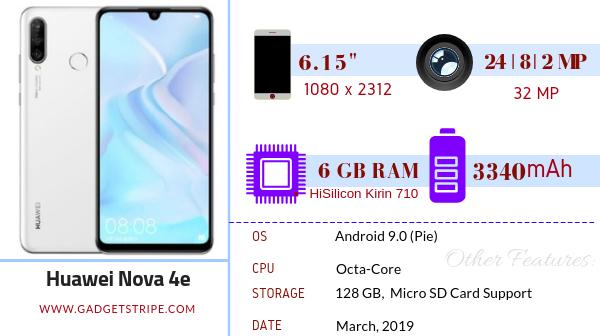 Huawei Nova 4e specifications