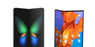 samsung fold and huawei mate x