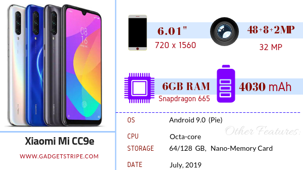 Xiaomi Mi CC9e GadgetStripe