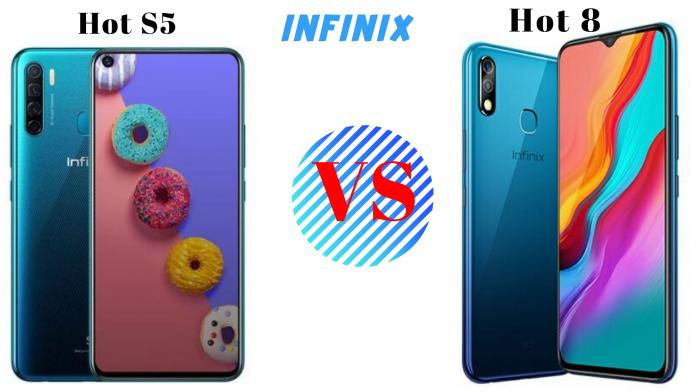 infinix s5 vs infinix hot 8